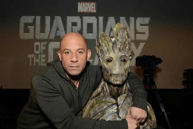 馮迪索 (Vin Diesel) 在《星際異攻隊》(Guardians of the Galaxy) 為樹人格魯特配音。