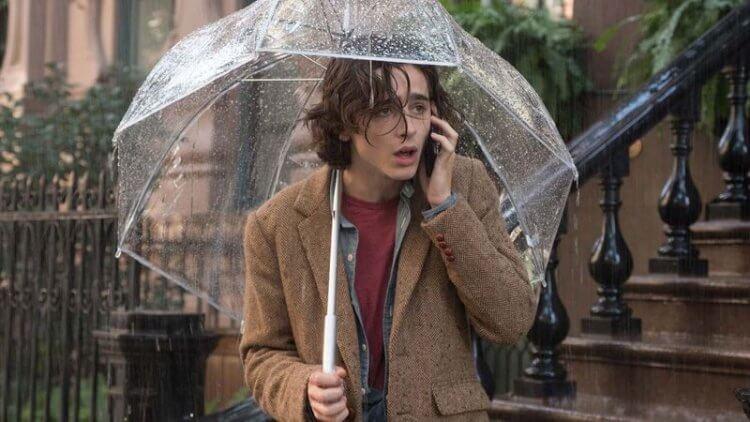 《雨天・紐約》飾演蓋茲比的提摩西夏勒梅。