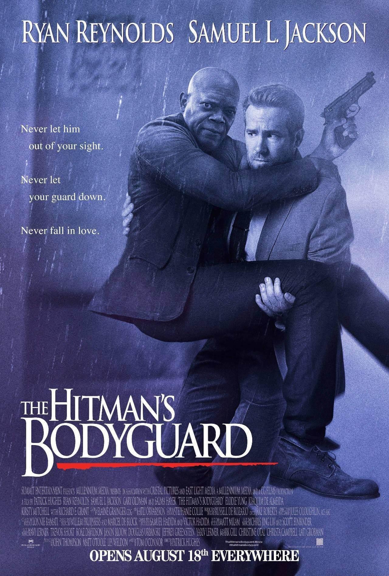 山繆傑克森、萊恩雷諾斯共演刺激又好笑的動作片《殺手保鑣》。