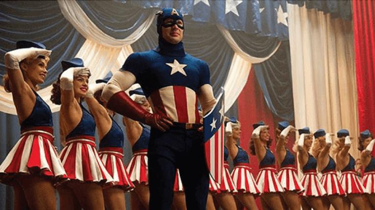 2011 年由克里斯伊凡主演的漫威超級英雄電影《美國隊長》。
