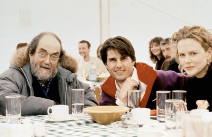 拍攝《 大開眼戒 》時的 庫柏力克 和男女主角合影: 湯姆克魯斯 、 妮可基嫚