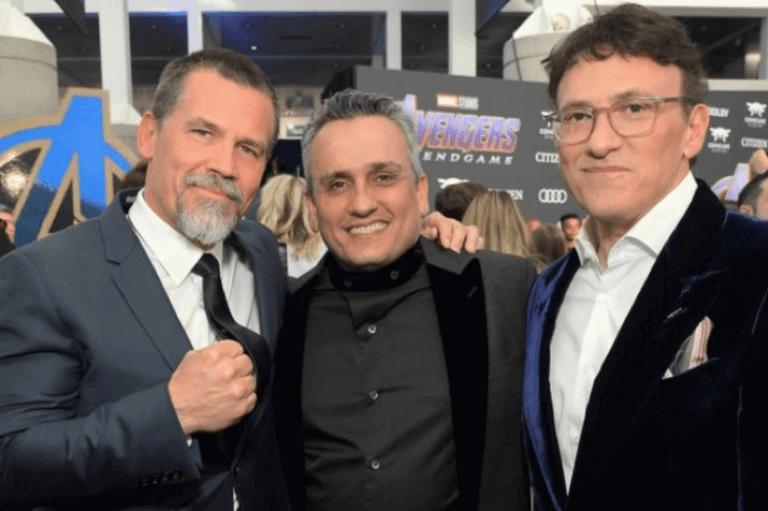 日前《復仇者聯盟 4:終局之戰》世界首映會上的「薩諾斯」喬許布洛林以及導演喬羅素、安東尼羅素。
