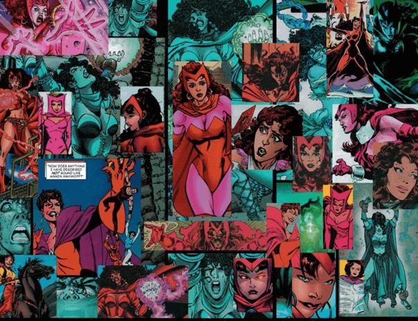 漫威漫畫中失控的緋紅巫女濫用魔法,與復仇者聯盟作對,現實世界也因此分崩離析。