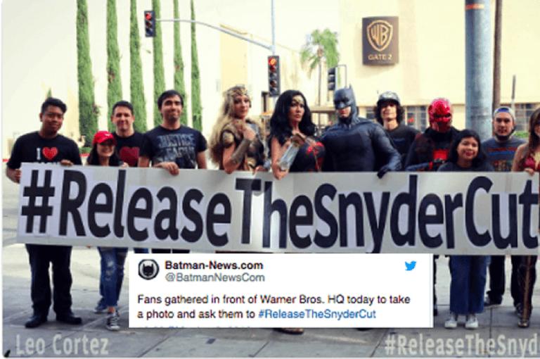 正義聯盟粉絲到華納影業抗議要導演剪輯版。