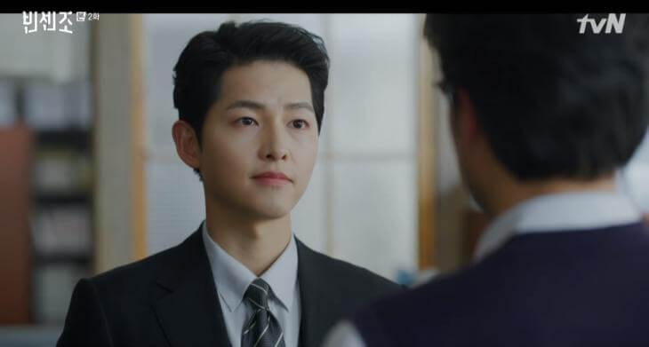 宋仲基主演韓劇《黑道律師文森佐》。