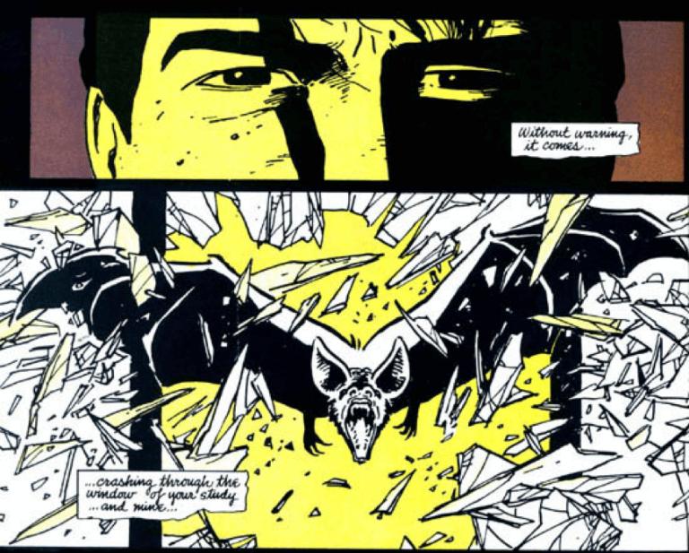 法蘭克米勒所繪製的蝙蝠俠起源漫畫作品:《蝙蝠俠:元年》。