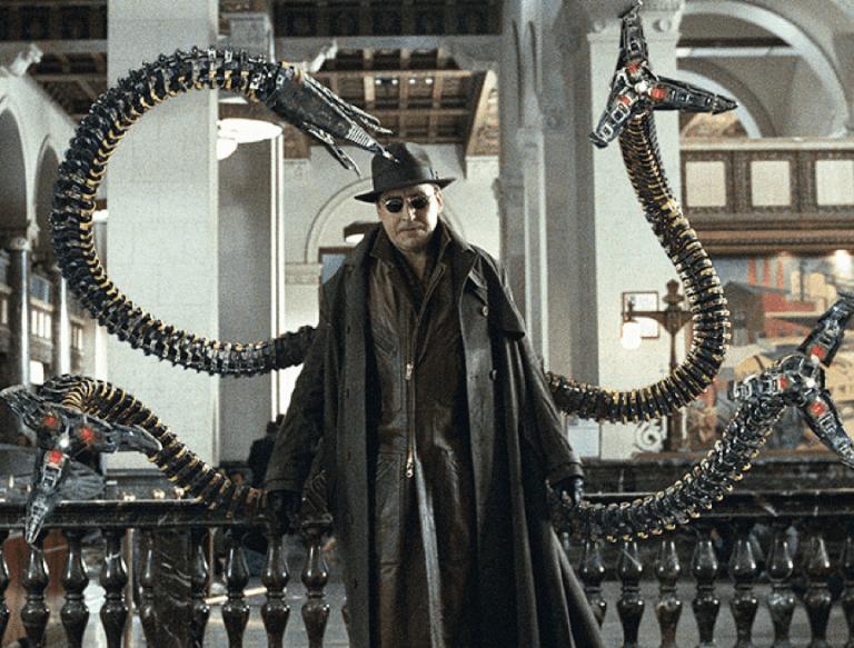 《蜘蛛人2》中由艾佛烈蒙利納飾演的超級反派:八爪博士。