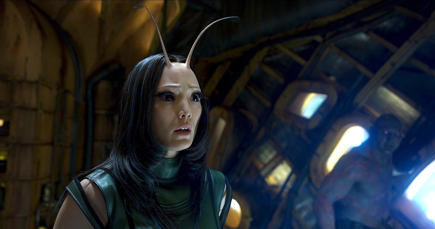 2017 年《星際異攻隊 2》中的螳螂女。