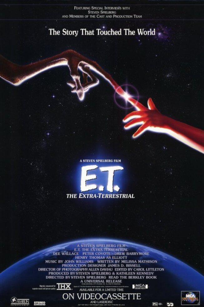 《E.T. 外星人》電影海報。