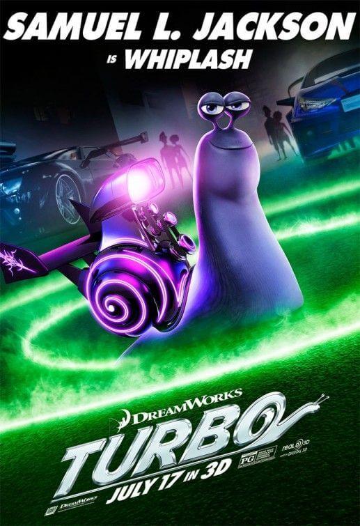 動畫電影《渦輪方程式》中山繆傑克森配音的紫色蝸牛。