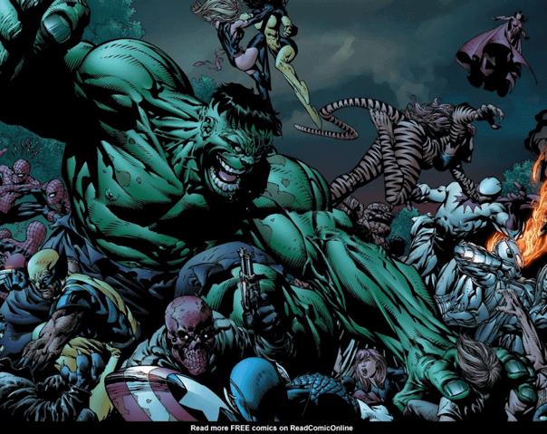 漫威漫畫中,失控的緋紅女巫運用混沌魔法讓復仇者聯盟的成員們對抗最大的勁敵,無法碰到汪達一根寒毛。