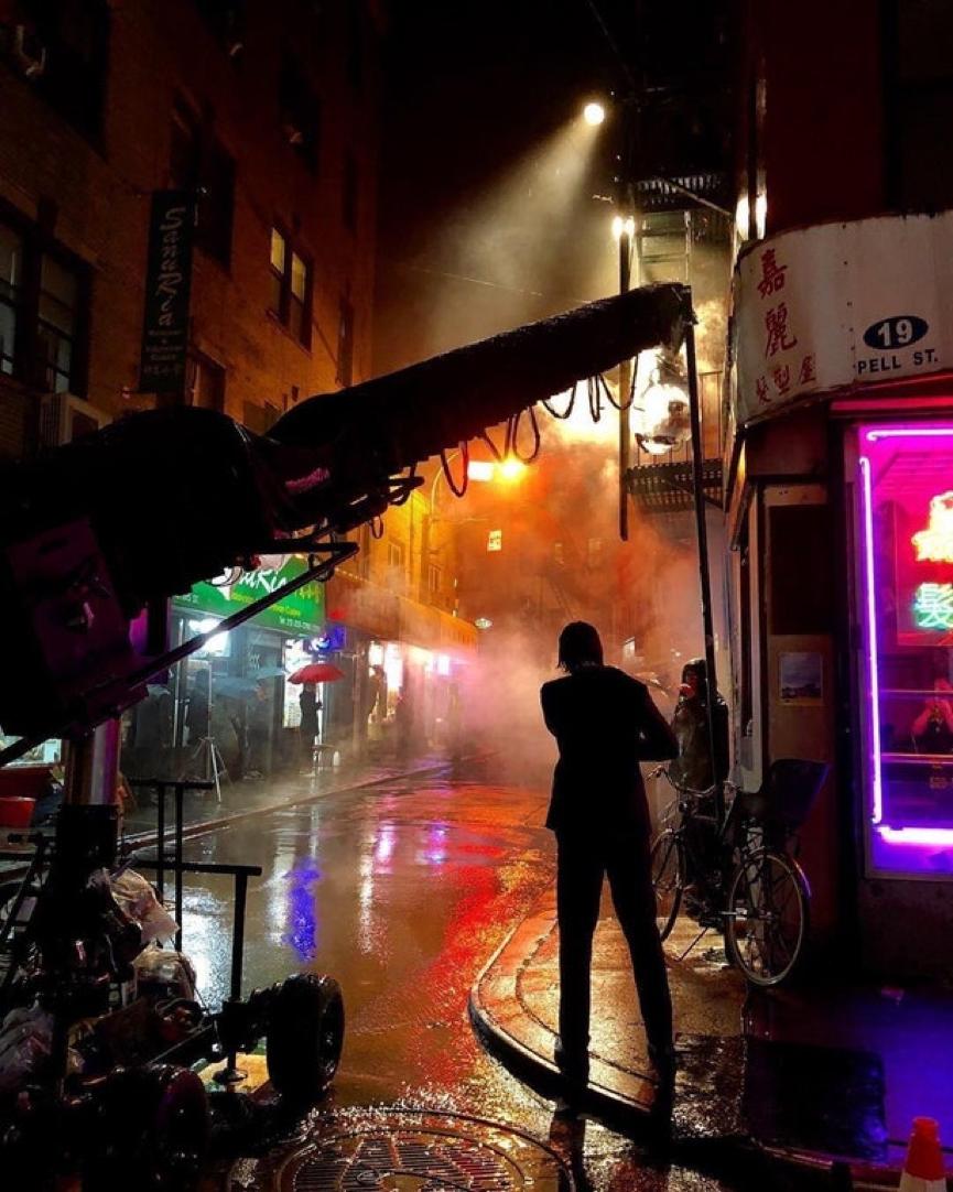 電影《 捍衛任務3 》已在拍攝階段, 約翰維克 正在嘉麗髮型屋外面排隊。