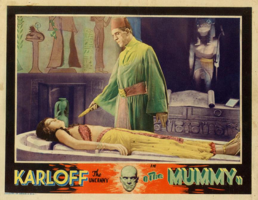1932 年電影《 木乃伊 》 印和闐 與 安赫塞娜蒙 。