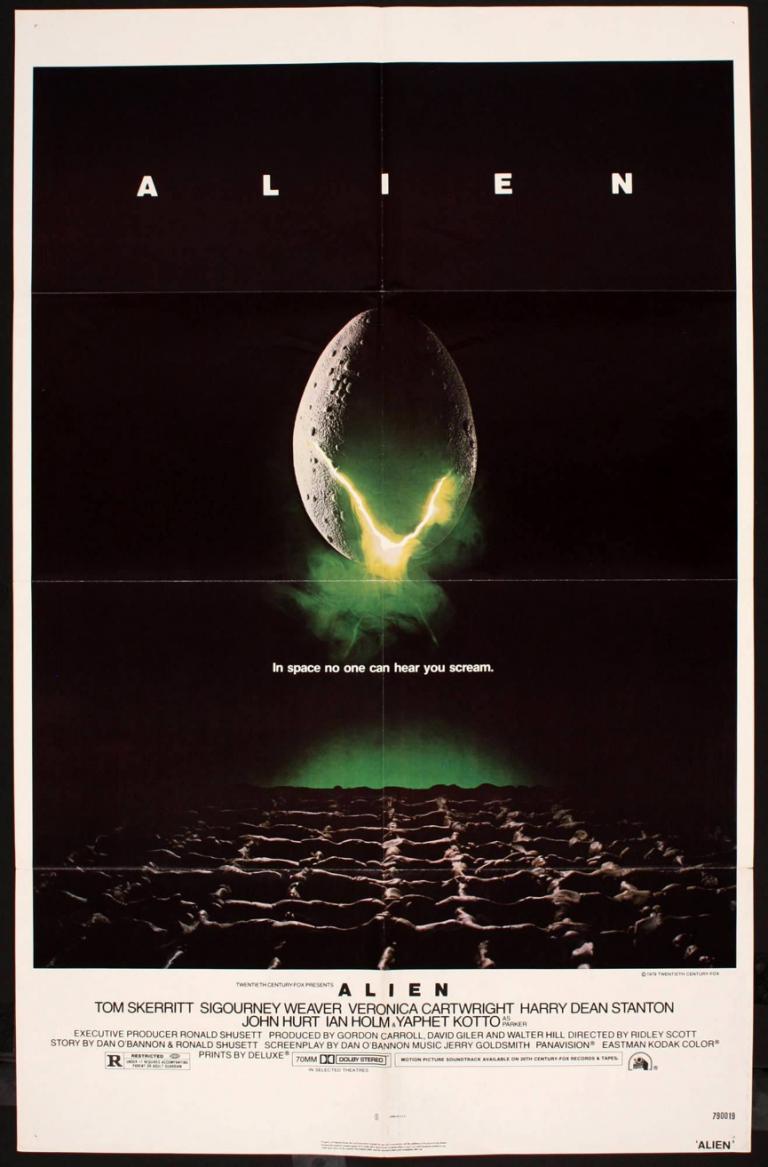 法蘭克福所經手的《異形》電影宣傳海報。