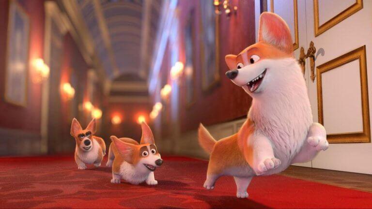 以柯基犬為主題的動畫電影《女王的柯基》(The Queen's Corgi)劇照。