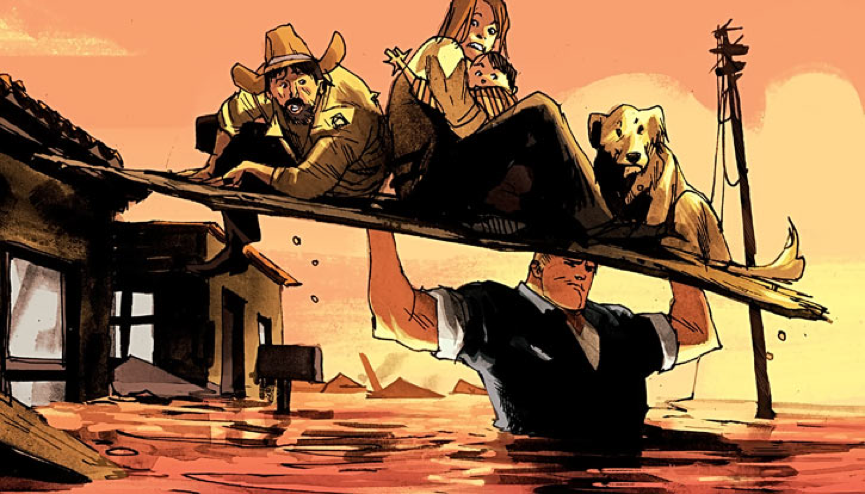 《 哈克 》漫畫畫面。