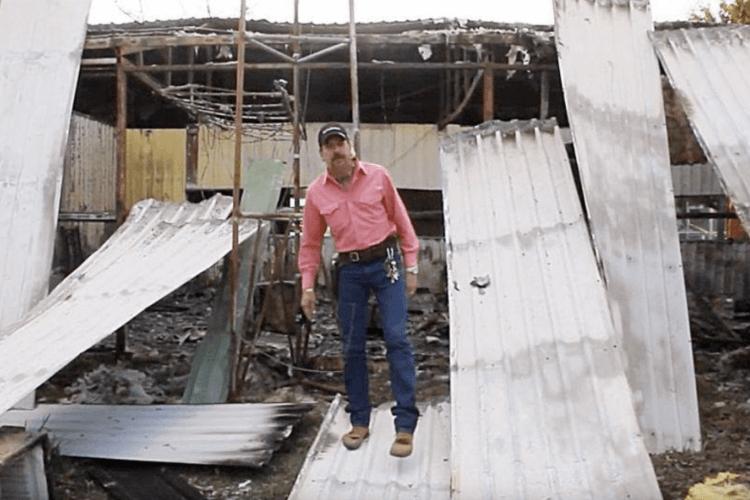 異國喬的直播拍攝現場起火。