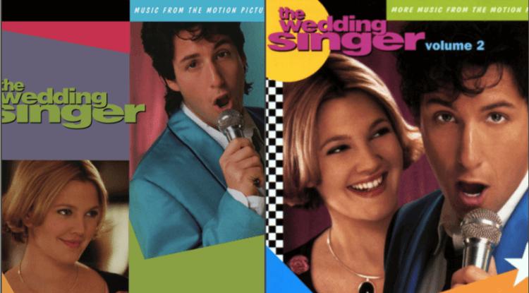 兩張戀愛喜劇電影《婚禮歌手》原聲帶。