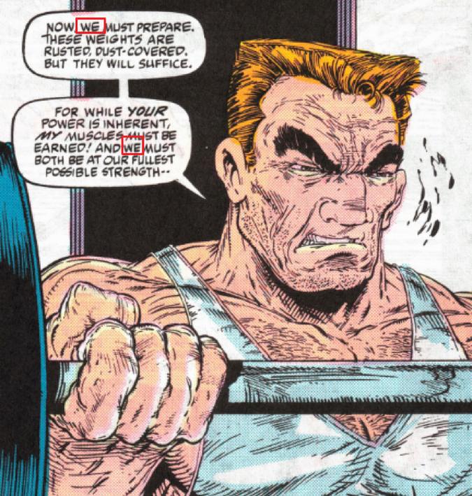 原作漫畫中,與共生體融合的艾迪都是以「我們」來自稱。