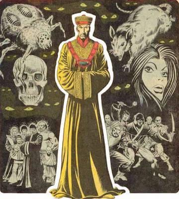 在「上氣」的起源故事中,他的父親是魔醫「傅滿洲」(Fu Manchu)。