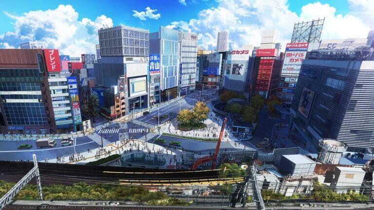 新銳動畫家櫻井優平原創動畫電影《相對世界。明日終結?》中,細膩寫實的場景如臨其境。