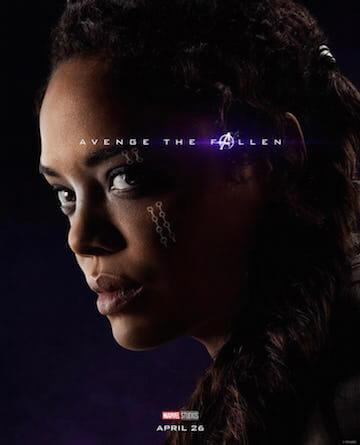 Avenge the Fallen.《復仇者聯盟 4:終局之戰》最新海報,圖為泰莎湯普森飾演的「女武神」。