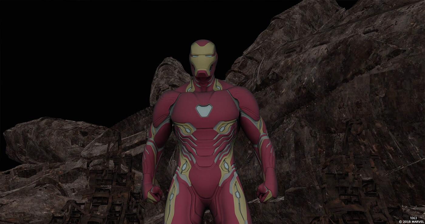 復仇者聯盟 無限之戰 電影中, 鋼鐵人 身上的 尖端裝甲 (血邊裝甲) 可透過 東尼 胸口的 弧形反應爐 釋放出儲存的奈米粒子