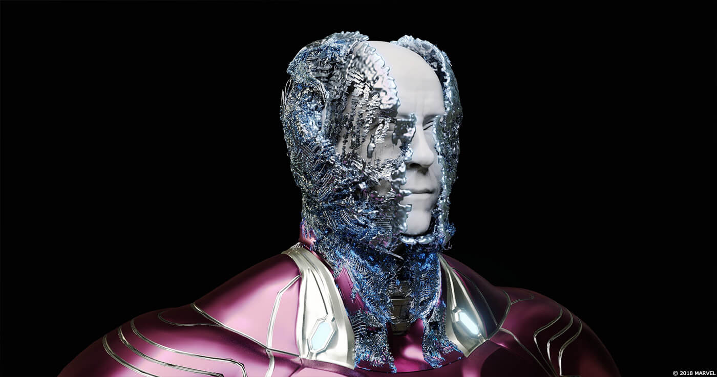 復仇者聯盟 無現之戰 電影中 鋼鐵人的 尖端裝甲 動畫特效 奈米粒子 示意圖