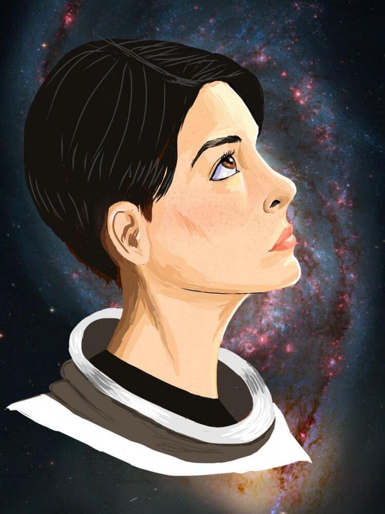 《星際效應》艾蜜莉亞布蘭德插畫。