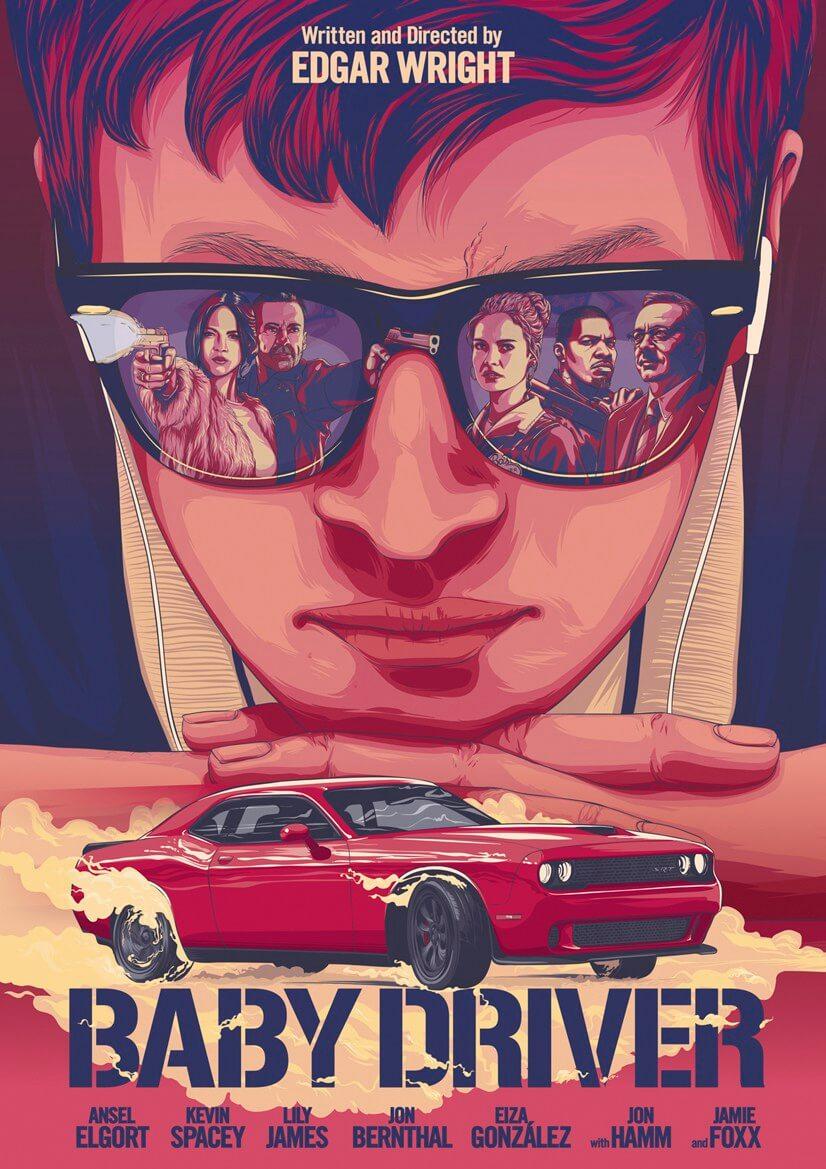 2017 年飆速動作爽片《玩命再劫》(Baby Driver)。