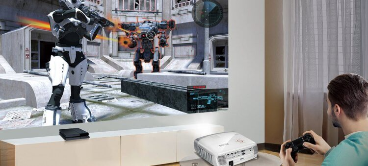 讓家用投影機輕鬆把家變成電影院:BenQ 明碁遊戲短焦三坪機 W1210ST,打電動也推薦。