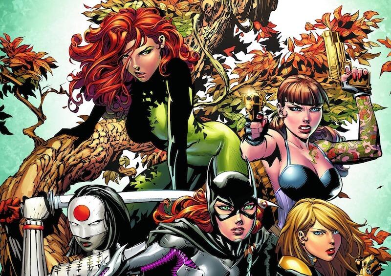 DC女英雄 《 猛禽小隊 》Birds of Pery 由 蝙蝠女, 卡塔納 (武士刀), 黑金絲雀 等角色組成