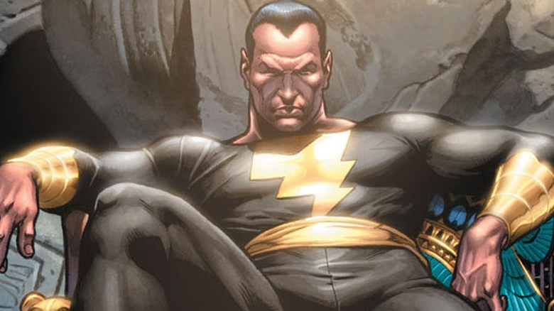 DC 漫畫裡面的超級反派「黑亞當」,也是沙贊的死對頭,真人電影當中將由巨石強森飾演。