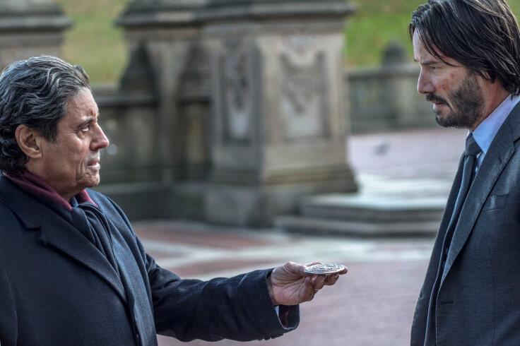 第二集最後,大陸酒店的管理人溫斯頓(Winston)將血誓印記(Blood Oath Marker)還給約翰