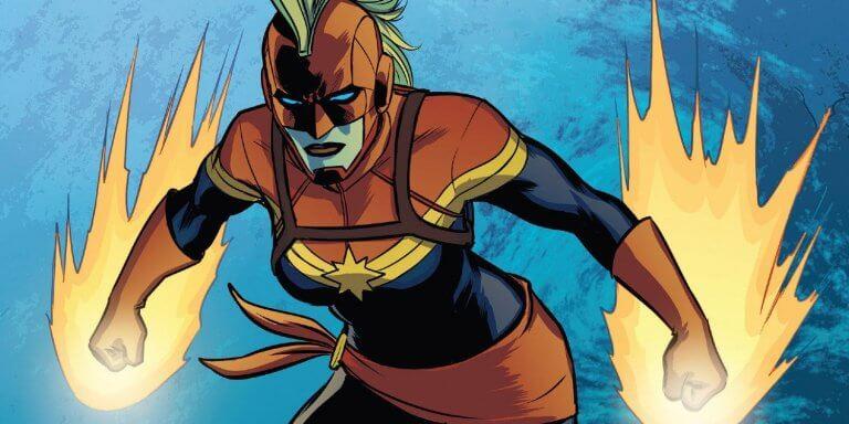漫威漫畫中擁有無限力量的驚奇隊長,當然,她頂著經典的莫霍克頭現身。