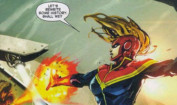 驚奇隊長在漫威漫畫中的經典莫霍克頭髮型。