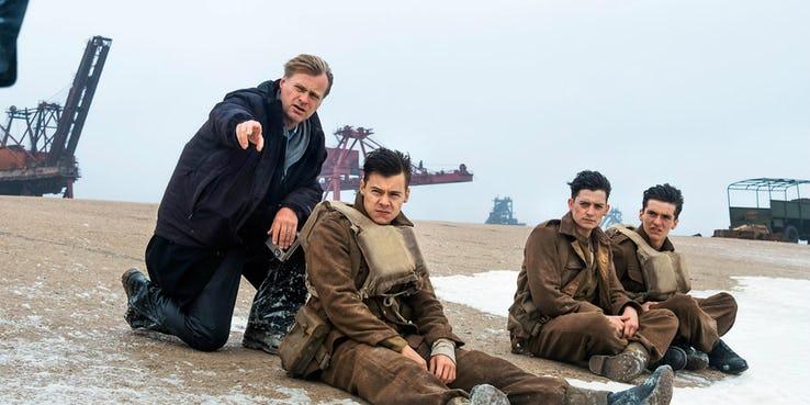 執導二戰劇情片《敦克爾克大行動》(Dunkirk) 時的導演:克里斯多福諾蘭。