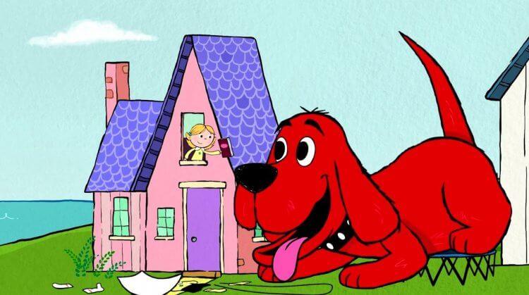 《大紅狗克里弗》動畫劇照。