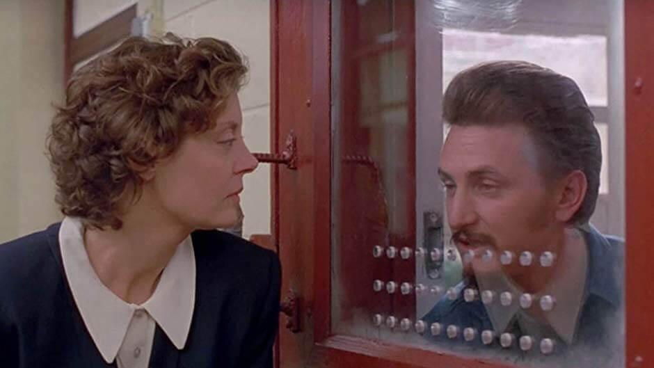 奧斯卡影后 蘇珊莎蘭登 在《 越過死亡線 》電影中的劇照。