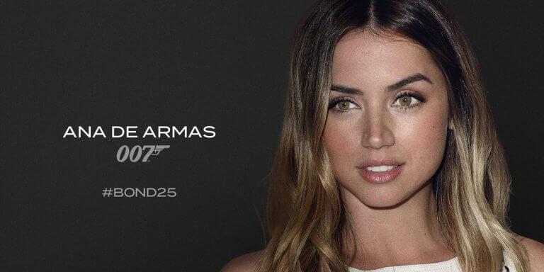 安娜德哈瑪絲 (Ana de Armas) 是「龐德25」(Bond 25)新面孔。