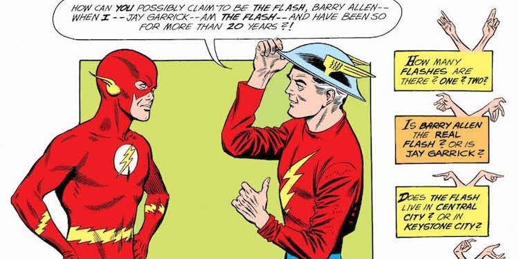 漫畫故事《兩個世界的閃電俠》。