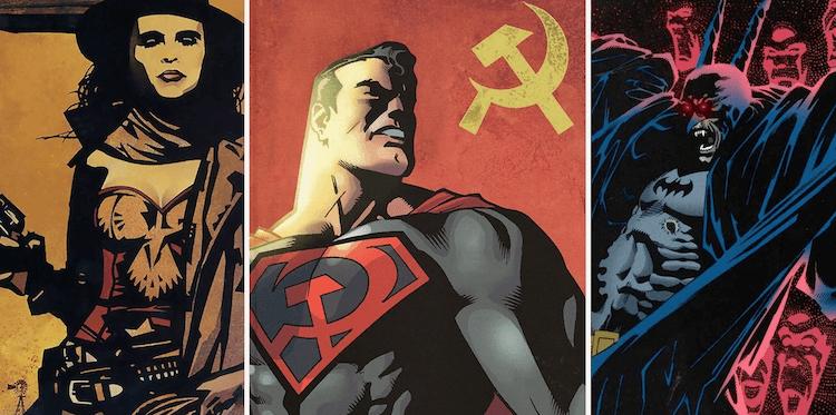 DC 創造「異世界」(Elseworlds) 品牌,打造跳脫正史版本的 DC 角色,如吸血鬼蝙蝠俠、蘇維埃超人等。