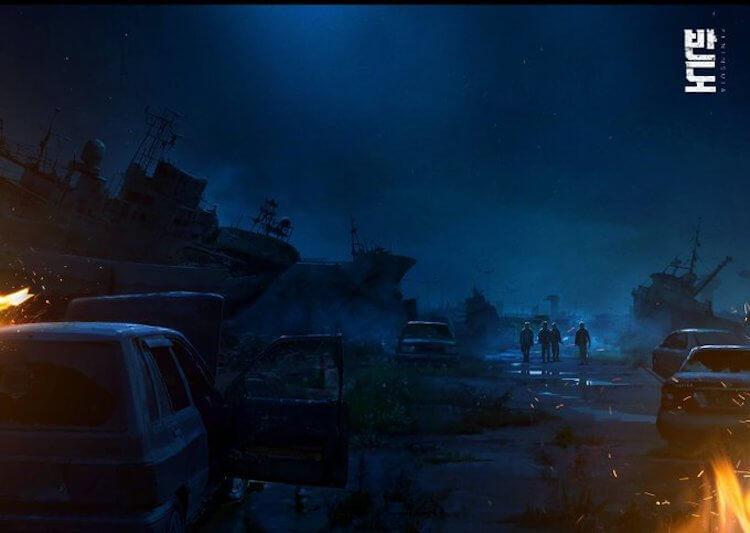 韓國電影《屍速列車》續集《半島》電影美術概念視覺圖。