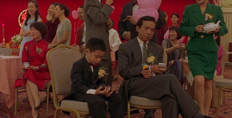 楊德昌導演電影作品《一一》中,由張洋洋飾演的洋洋,以及吳念真飾演的 NJ。