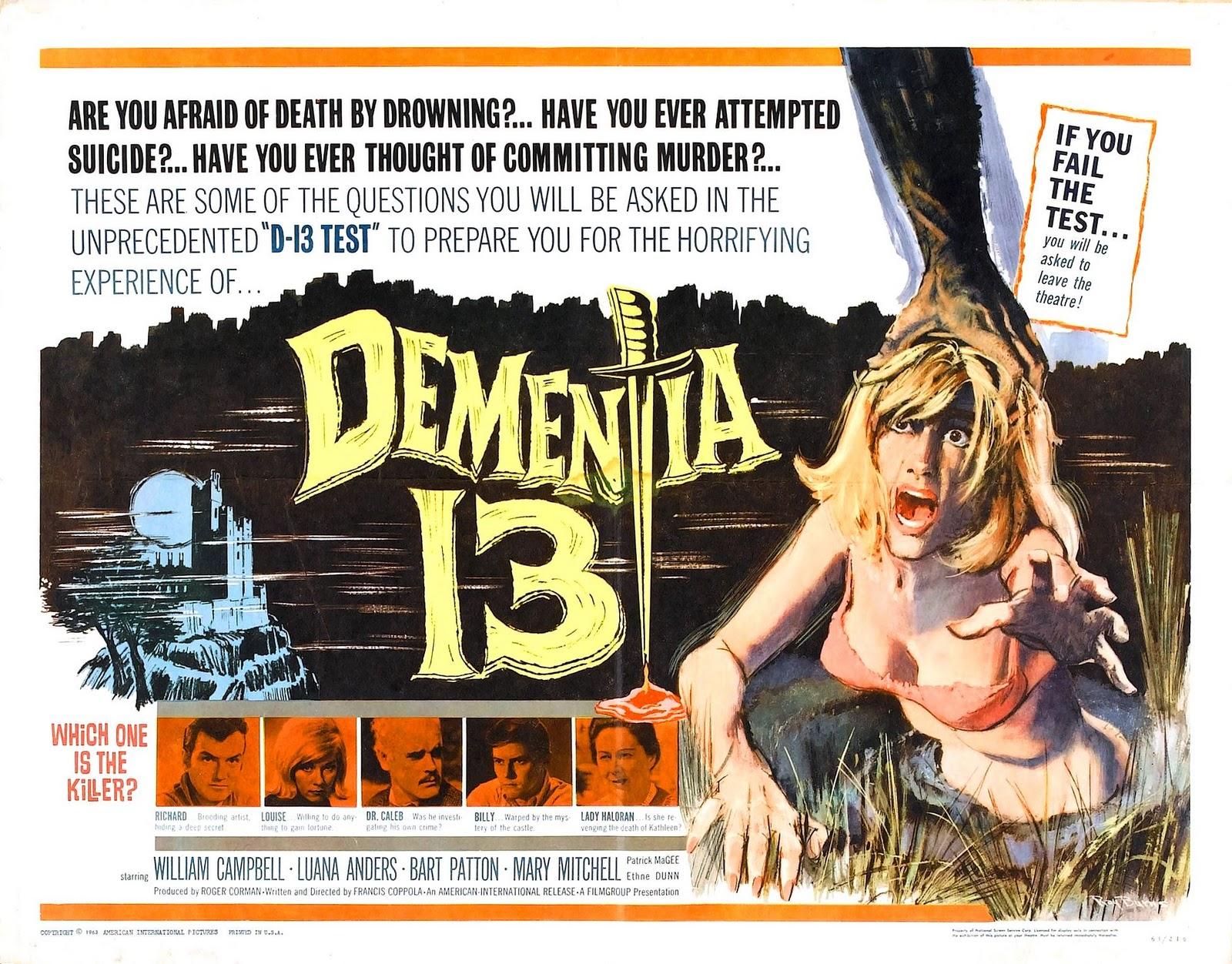 1963年的 驚狂十三歲 Dementia 13