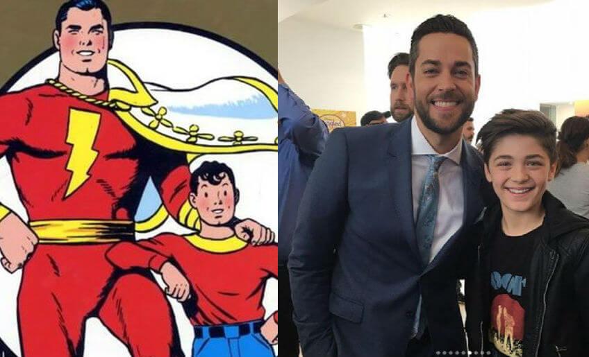 DC擴展宇宙 第二階段 超級英雄電影作品《 沙贊 ! 》,大小 比利 / 沙贊 的演員分別為 柴克萊威 、 艾許安傑 。