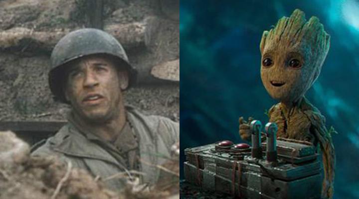左為 馮迪索 《 搶救雷恩大兵 》劇照。