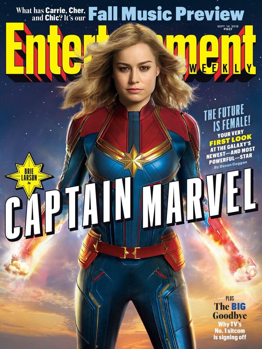 娛樂週刊 EW 封面全版刊出《 驚奇隊長 》正式造型。