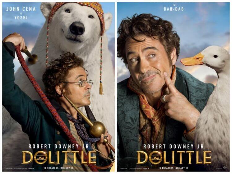 小勞勃道尼主演電影《杜立德》(Dolittle) 海報可看到豪華配音卡司:「北極熊」約翰希南、「鴨鴨」奧塔薇亞史班森。