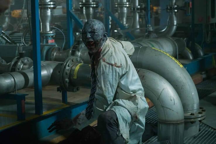 遊戲改編的恐怖動作電影《毀滅戰士》劇照。